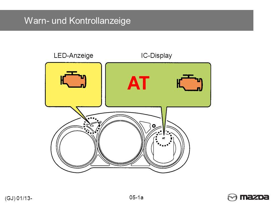 Warn- und Kontrollanzeige IC-DisplayLED-Anzeige (GJ) 01/13- 05-1a