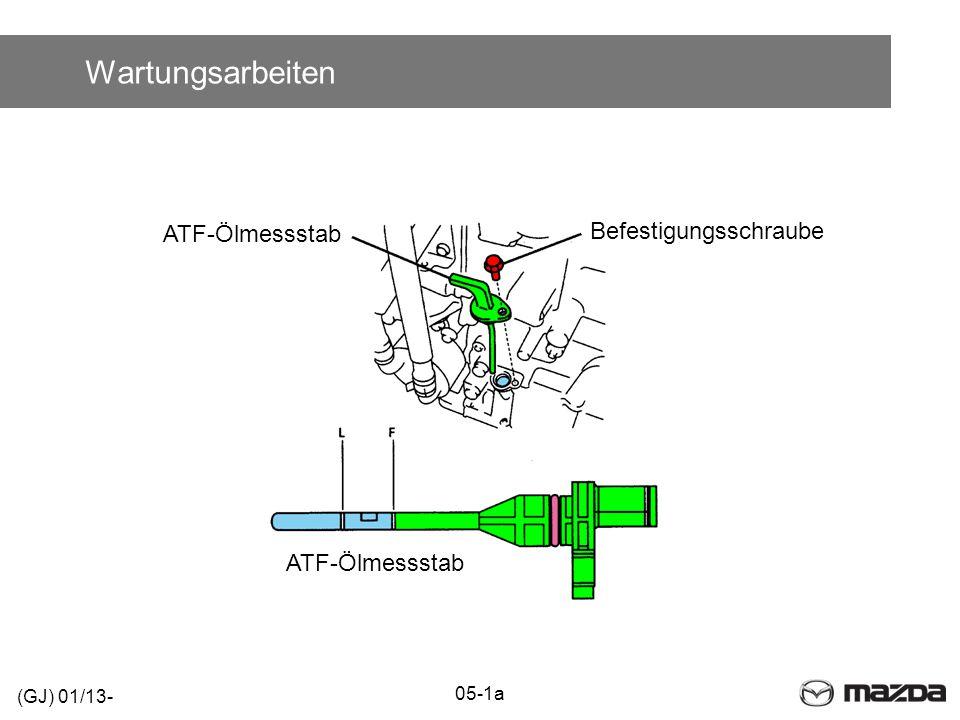 Wartungsarbeiten ATF-Ölmessstab Befestigungsschraube ATF-Ölmessstab (GJ) 01/13- 05-1a