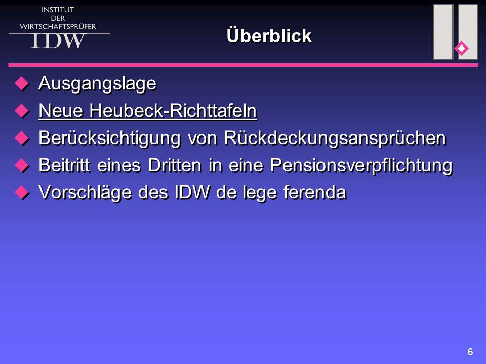 7 Neue Heubeck-Richttafeln (1)  Neue Richttafeln 2005 G von Prof.