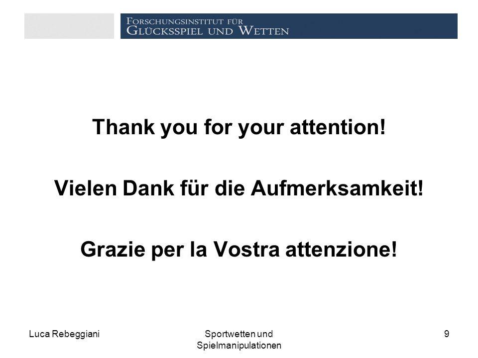 Thank you for your attention. Vielen Dank für die Aufmerksamkeit.