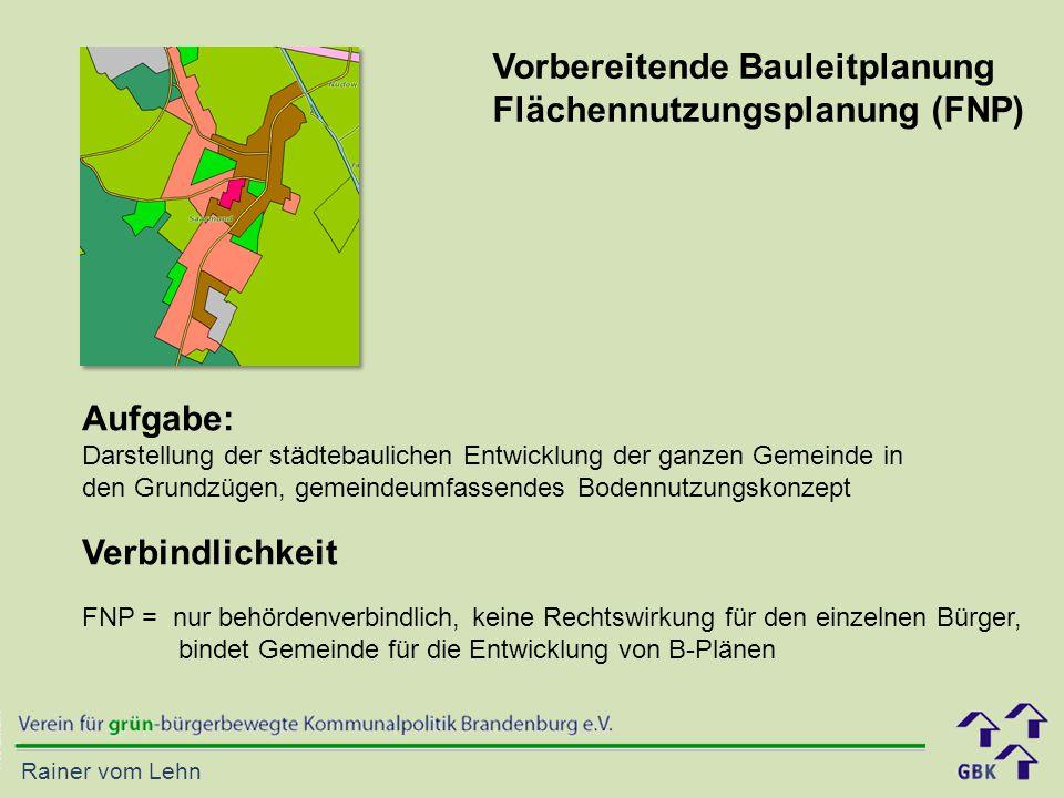 Rainer vom Lehn Aufgabe: Darstellung der städtebaulichen Entwicklung der ganzen Gemeinde in den Grundzügen, gemeindeumfassendes Bodennutzungskonzept V