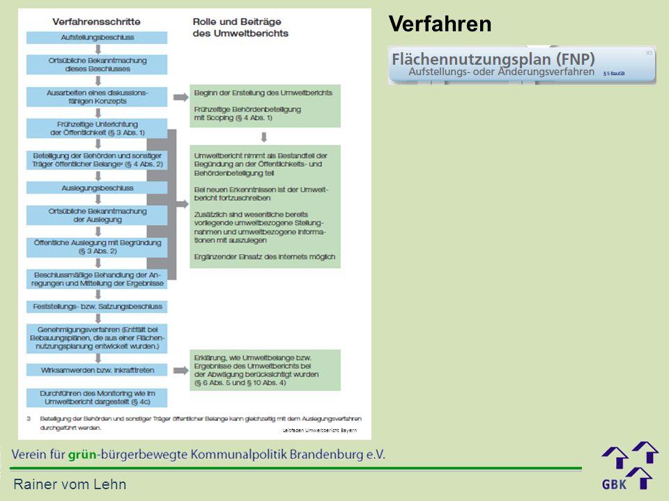 Rainer vom Lehn Leitfaden Umweltbericht Bayern Verfahren