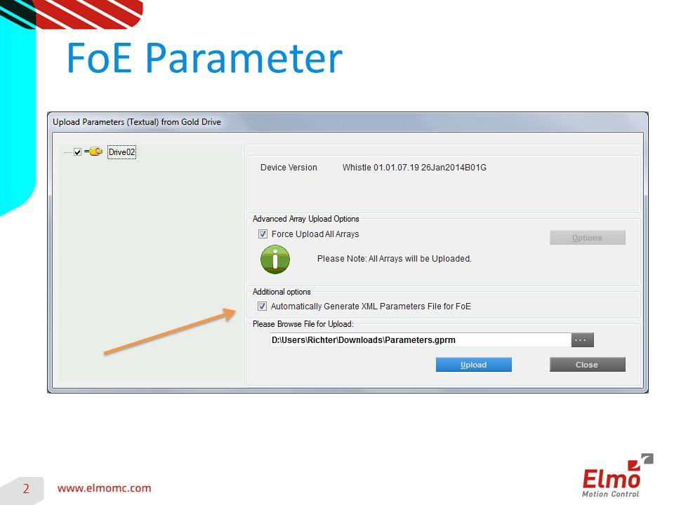 3 Es werden zwei Dateien erzeugt Parameters.gprm FoEPrmParameters.xml Zeilenweise Protokolle RS232/USB/CAN/EoE Als Data-Stream per FTP Client Protokolle FoE Schnelle und leichte Handhabung