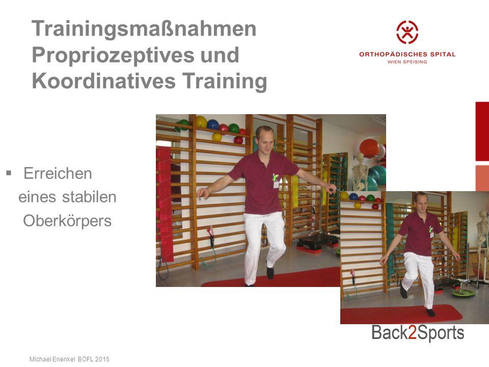 Trainingsmaßnahmen Propriozeptives und Koordinatives Training  Erreichen eines stabilen Oberkörpers Michael Enenkel BÖFL 2015