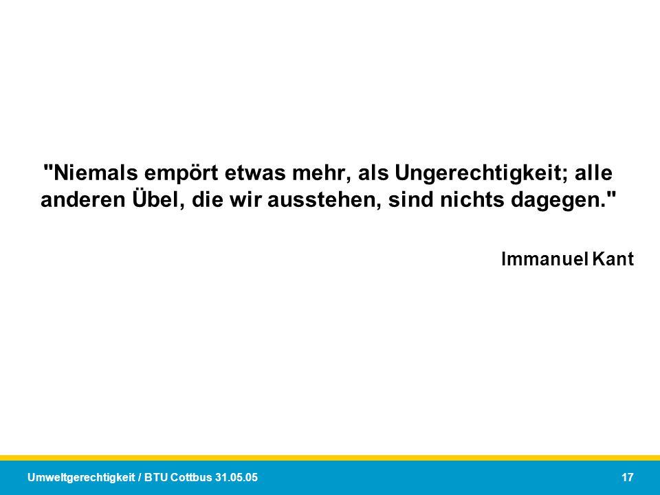 Umweltgerechtigkeit / BTU Cottbus 31.05.05 17