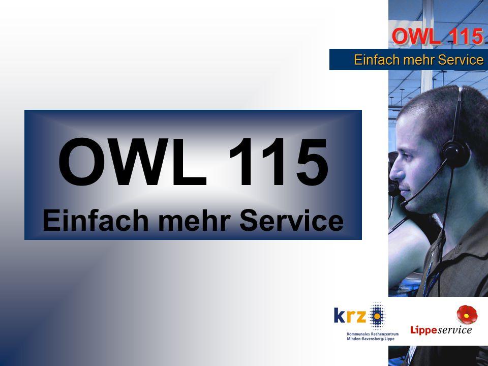 OWL 115 Einfach mehr Service Einfach mehr Service OWL 115 Einfach mehr Service