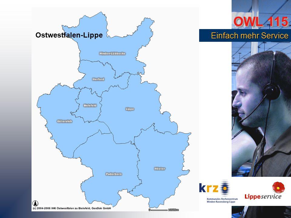 OWL 115 Einfach mehr Service Einfach mehr Service Ostwestfalen-Lippe