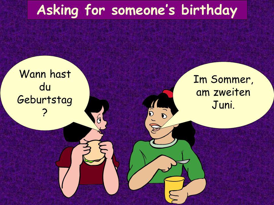 Asking for someone's age Ich bin elf Jahre alt. Wie alt bist du?