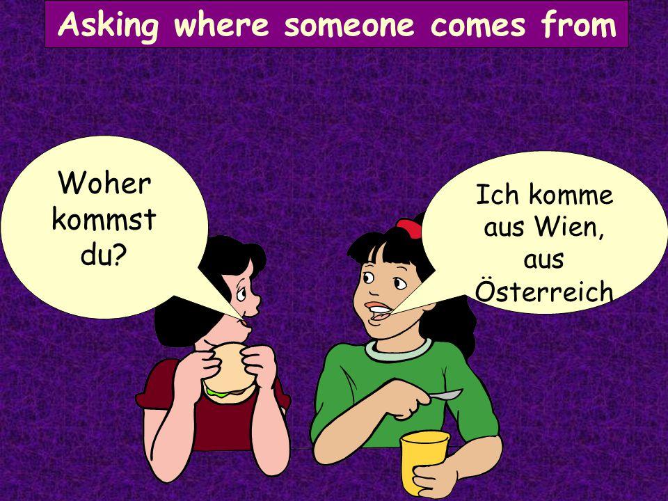 Asking where that is Das ist in Deutsch- land Wo ist das?