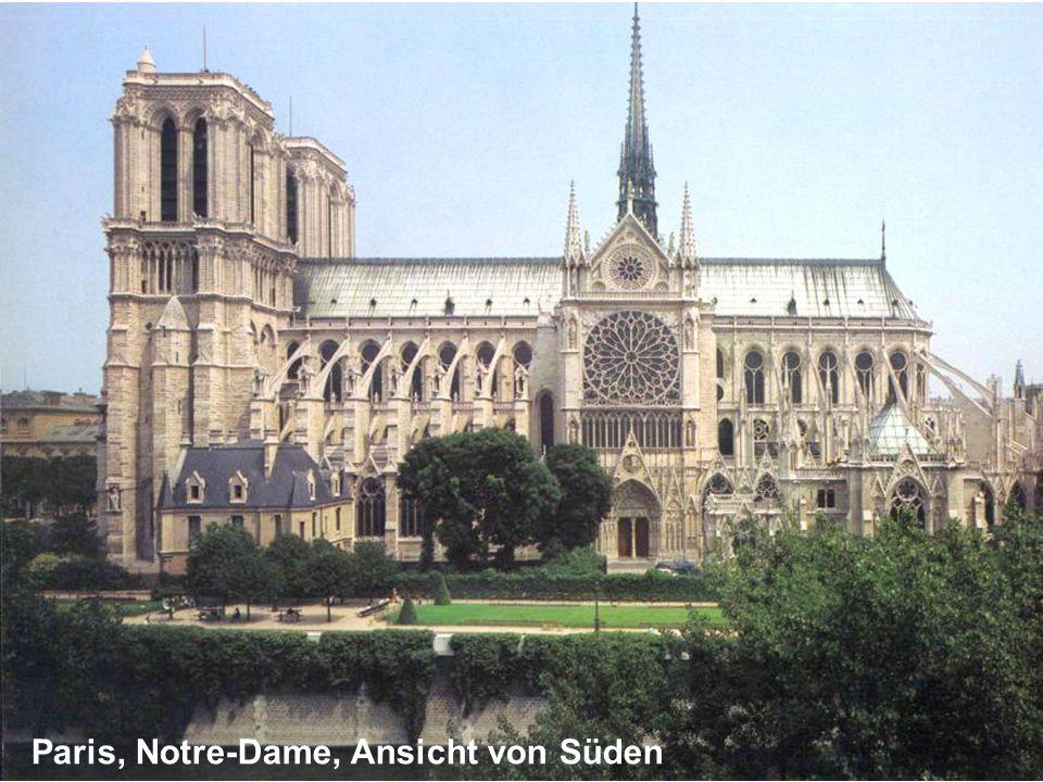 Paris, Notre-Dame, Ansicht von Süden