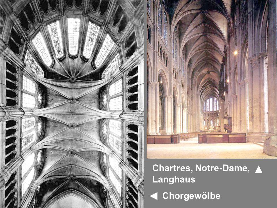 Chartres, Notre-Dame, Langhaus Chorgewölbe