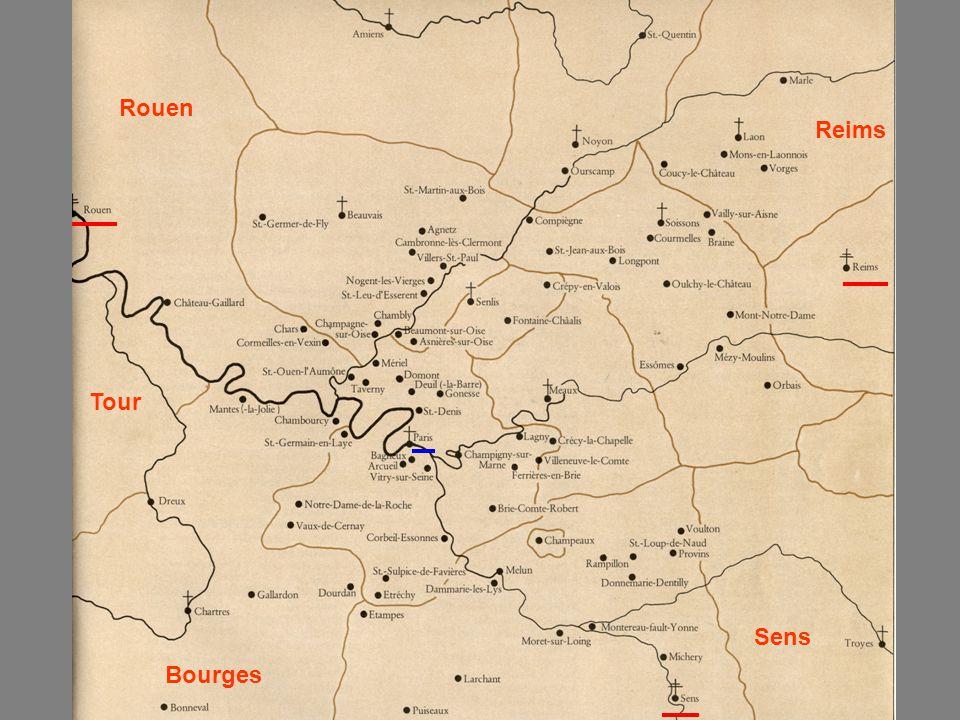 Bourges Rouen Tour Sens Reims