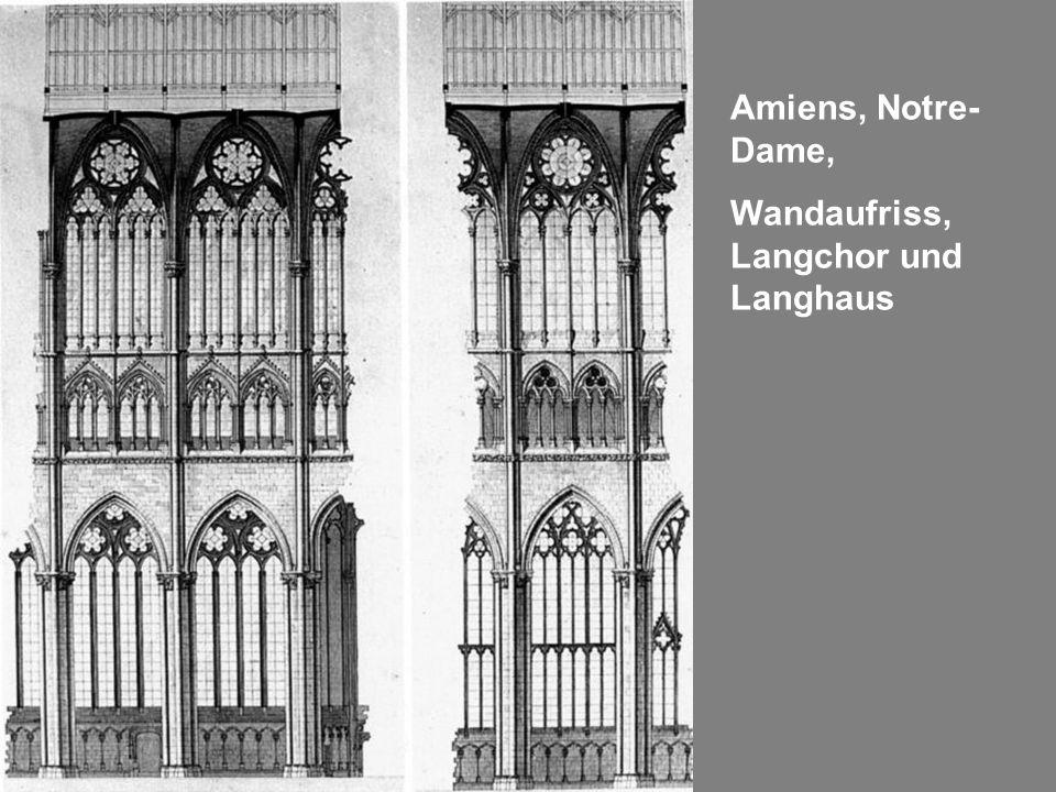 Amiens, Notre- Dame, Wandaufriss, Langchor und Langhaus