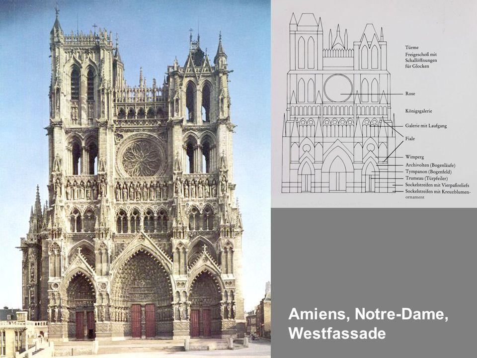 Amiens, Notre-Dame, Westfassade