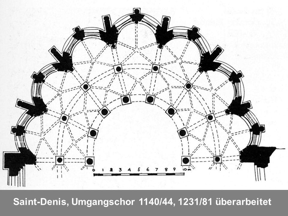 Saint-Denis, Umgangschor 1140/44, 1231/81 überarbeitet