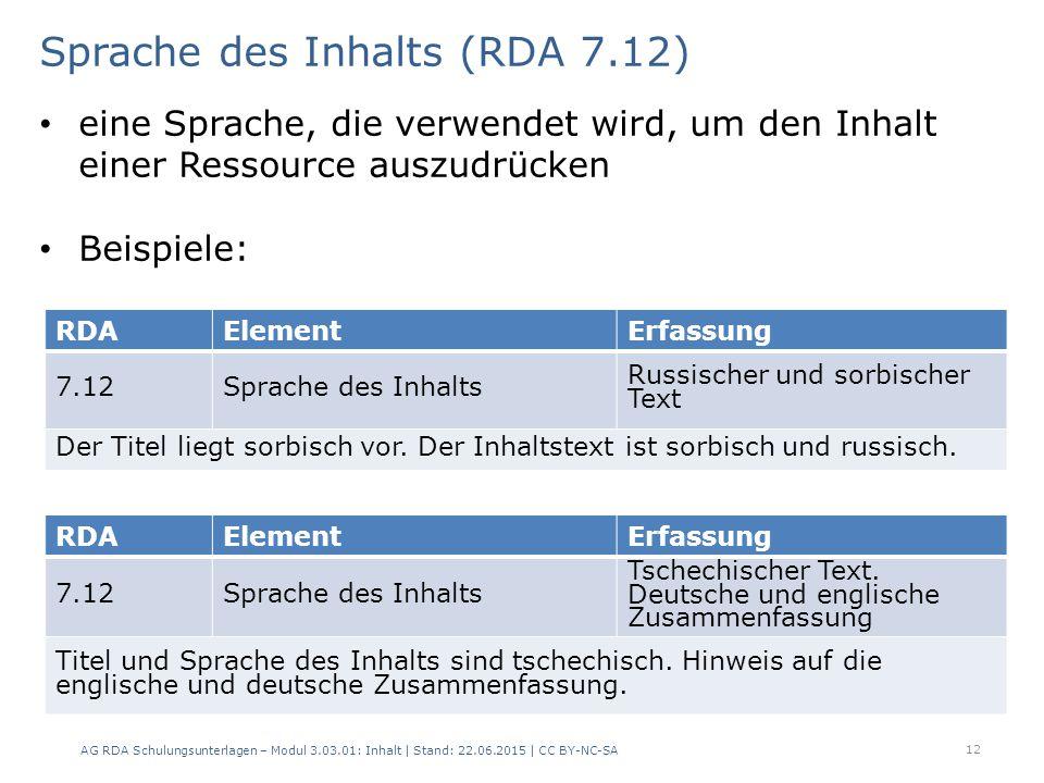 12 RDAElementErfassung 7.12Sprache des Inhalts Russischer und sorbischer Text Der Titel liegt sorbisch vor.