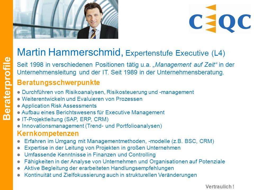 """Seit 1998 in verschiedenen Positionen tätig u.a. """"Management auf Zeit"""" in der Unternehmensleitung und der IT. Seit 1989 in der Unternehmensberatung. B"""