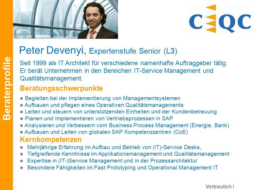 Seit 1999 als IT Architekt für verschiedene namenhafte Auftraggeber tätig. Er berät Unternehmen in den Bereichen IT-Service Management und Qualitätsma