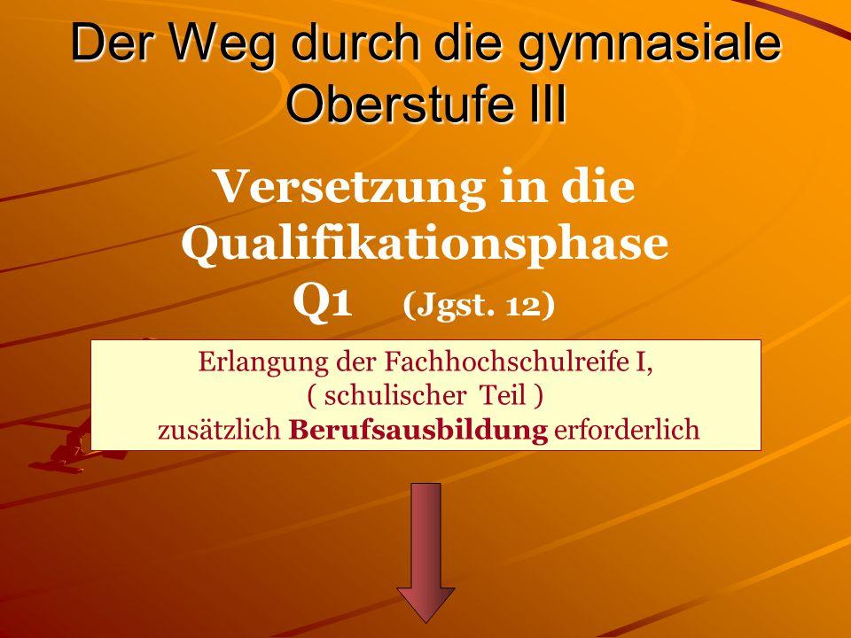 Versetzung EP  Q1 Versetzungswirksam sind 10 Kurse: D.h.