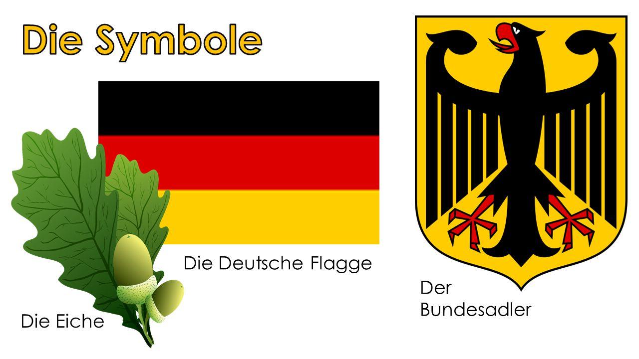 Die Deutsche Flagge Der Bundesadler Die Eiche