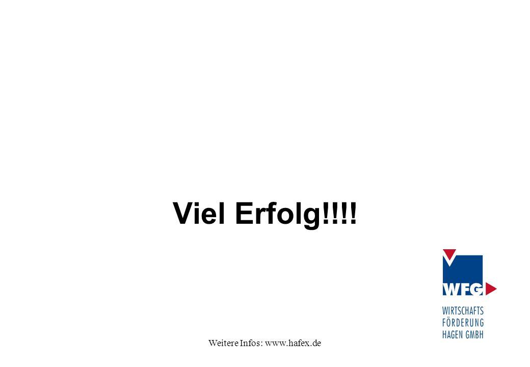 Weitere Infos: www.hafex.de Viel Erfolg!!!!