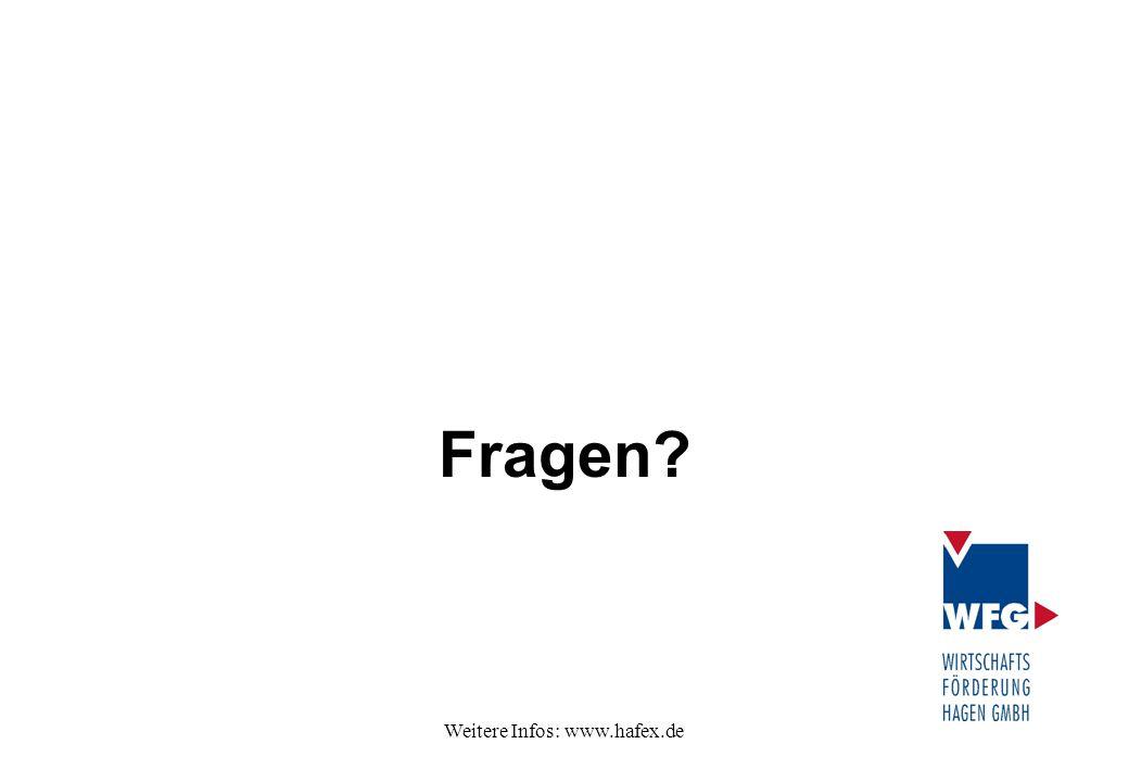 Weitere Infos: www.hafex.de Fragen?