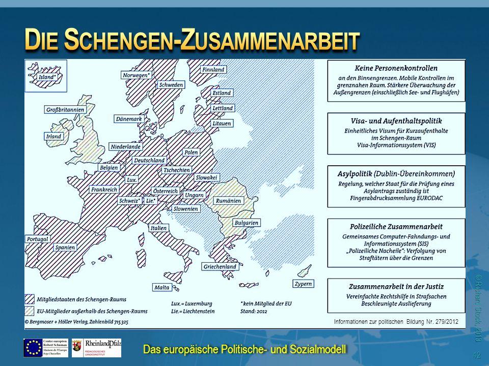 © Richard Stock, 2013 Informationen zur politischen Bildung Nr. 279/2012 Das europäische Politische- und Sozialmodell 42