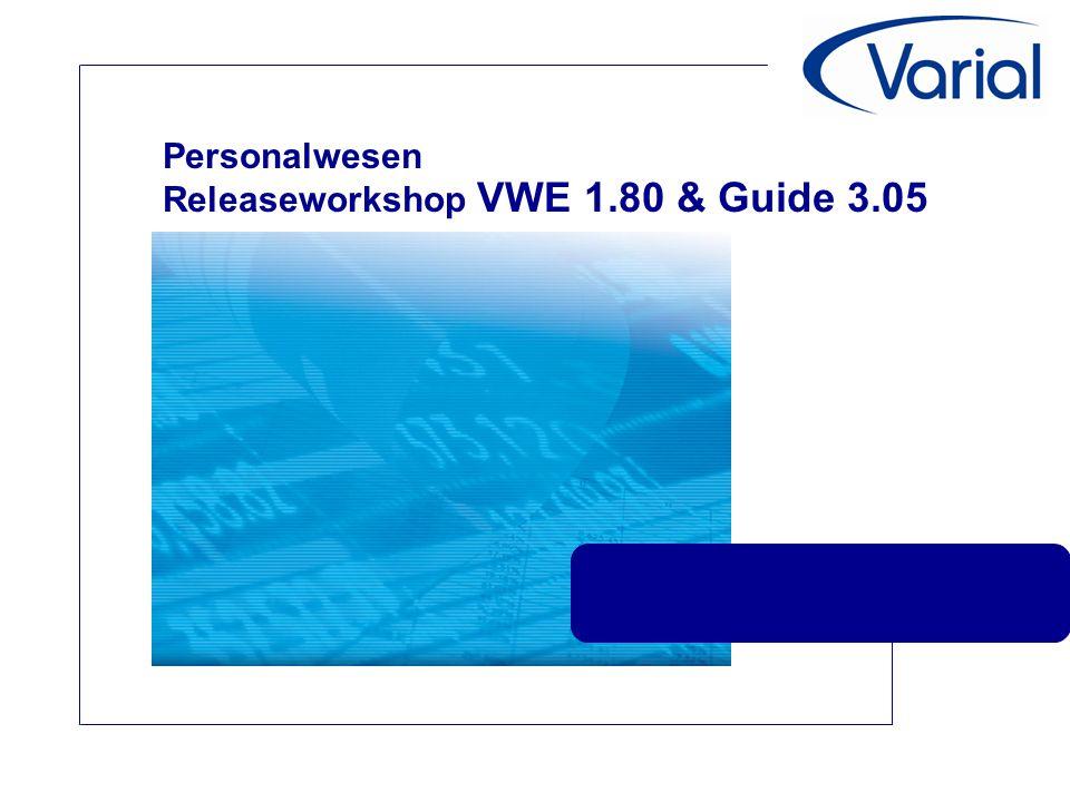 Personalwesen Releaseworkshop VWE 1.80 & Guide 3.05