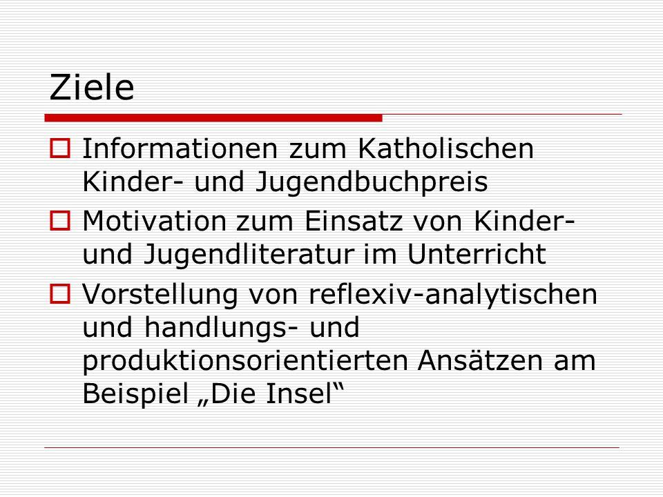 Katholischer Kinder- und Jugendbuchpreis Ausgezeichnet werden deutschsprachige Bücher, die beispielhaft und altersgemäß -religiöse Erfahrungen vermitteln, -Glaubenswissen erschließen und -christliche Lebenshaltungen verdeutlichen