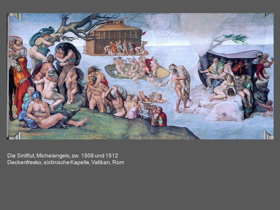 Die Sintflut, Michelangelo, zw. 1508 und 1512 Deckenfresko, sixtinische Kapelle, Vatikan, Rom