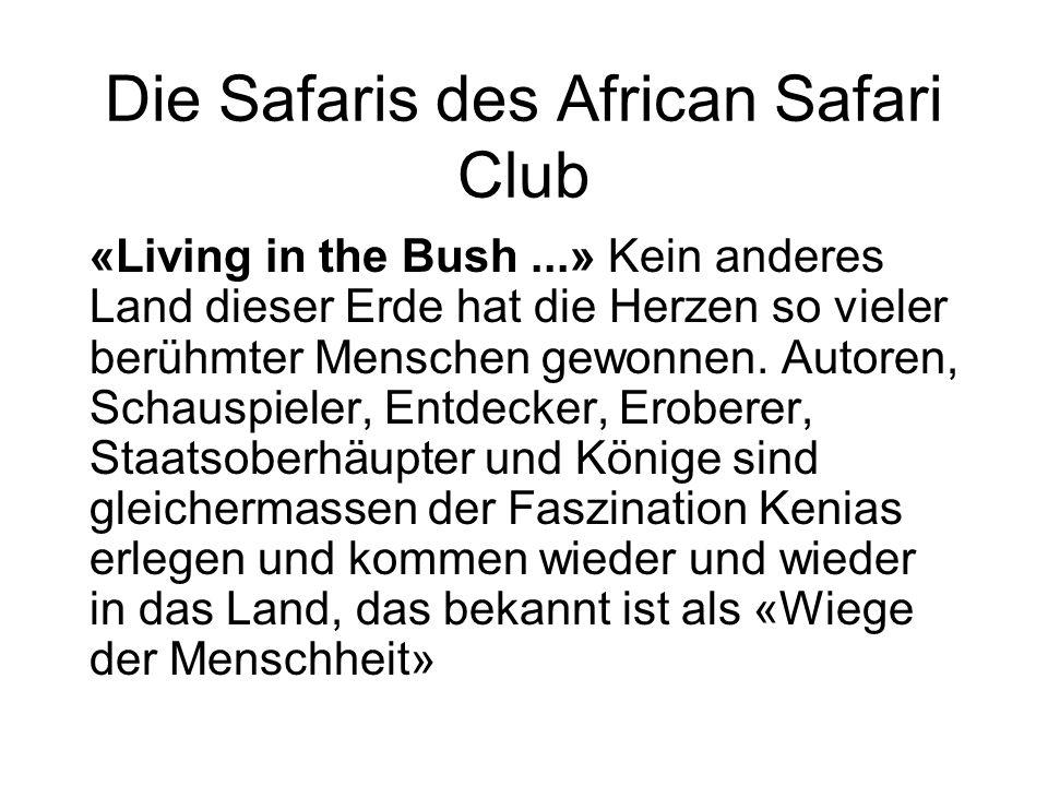 «Living in the Bush...» Kein anderes Land dieser Erde hat die Herzen so vieler berühmter Menschen gewonnen.