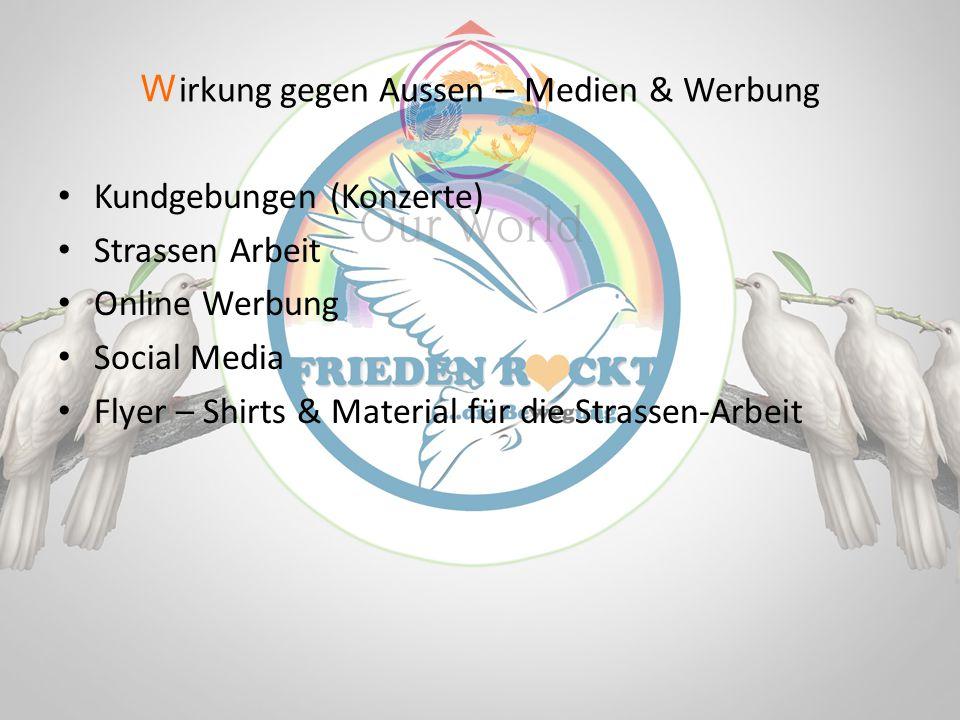Kundgebungen (Konzerte) Strassen Arbeit Online Werbung Social Media Flyer – Shirts & Material für die Strassen-Arbeit W irkung gegen Aussen – Medien &