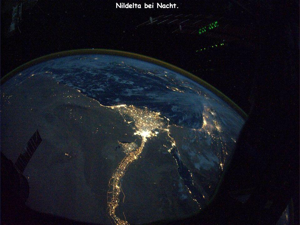 Nildelta bei Nacht.