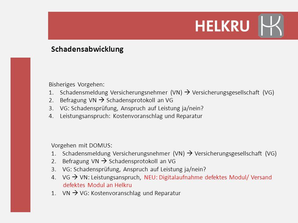 Schadensabwicklung Bisheriges Vorgehen: 1.Schadensmeldung Versicherungsnehmer (VN)  Versicherungsgesellschaft (VG) 2.Befragung VN  Schadensprotokoll