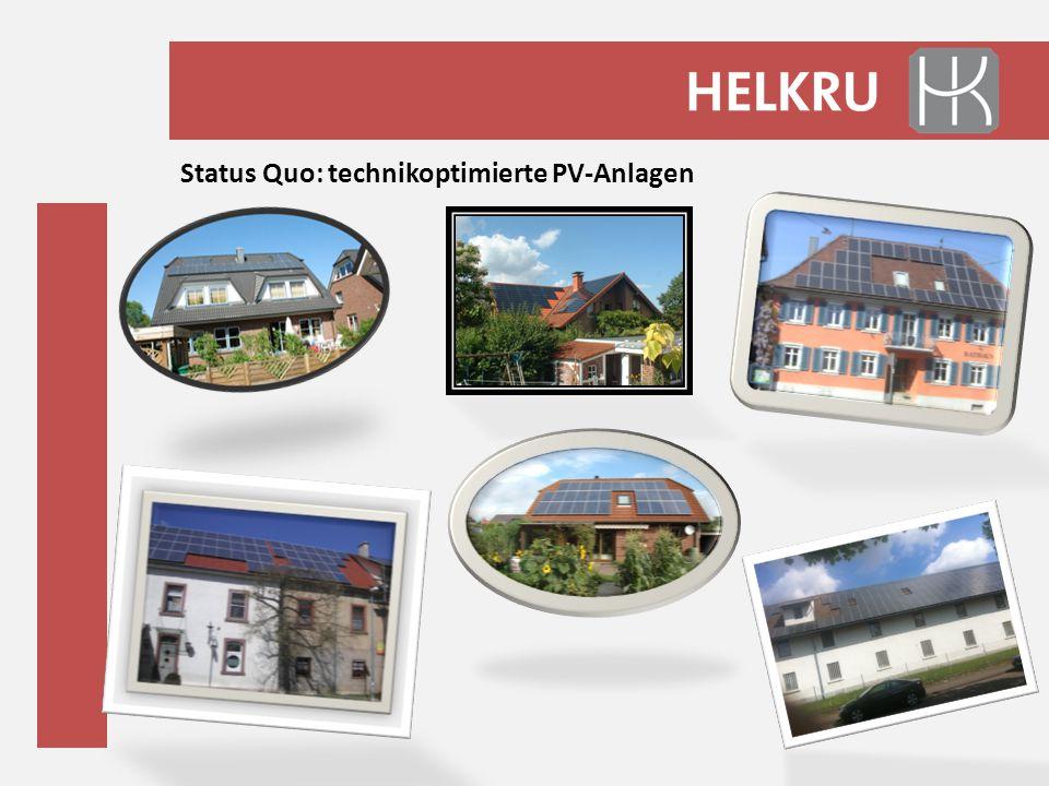 Status Quo: technikoptimierte PV-Anlagen