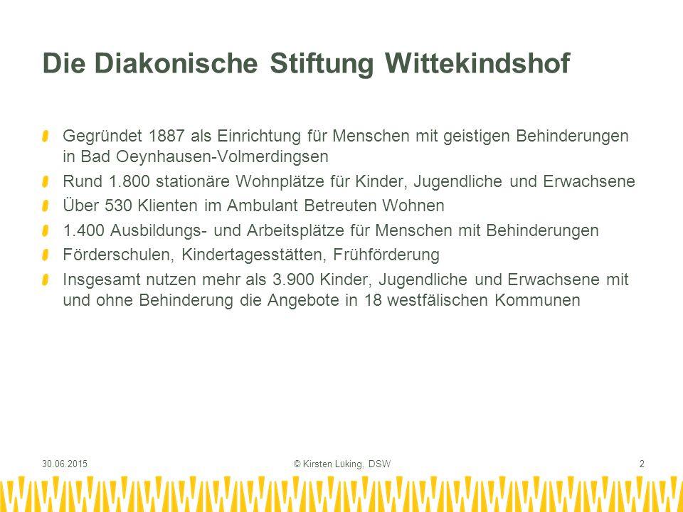 Die Diakonische Stiftung Wittekindshof Gegründet 1887 als Einrichtung für Menschen mit geistigen Behinderungen in Bad Oeynhausen-Volmerdingsen Rund 1.