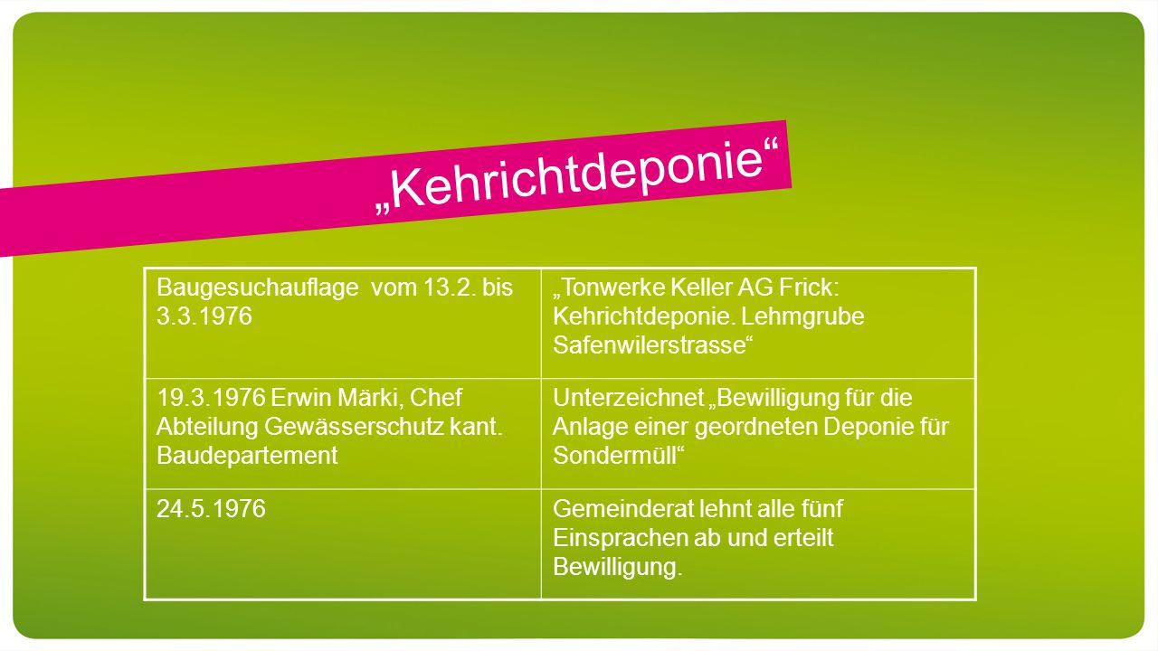 """""""Kehrichtdeponie Baugesuchauflage vom 13.2."""