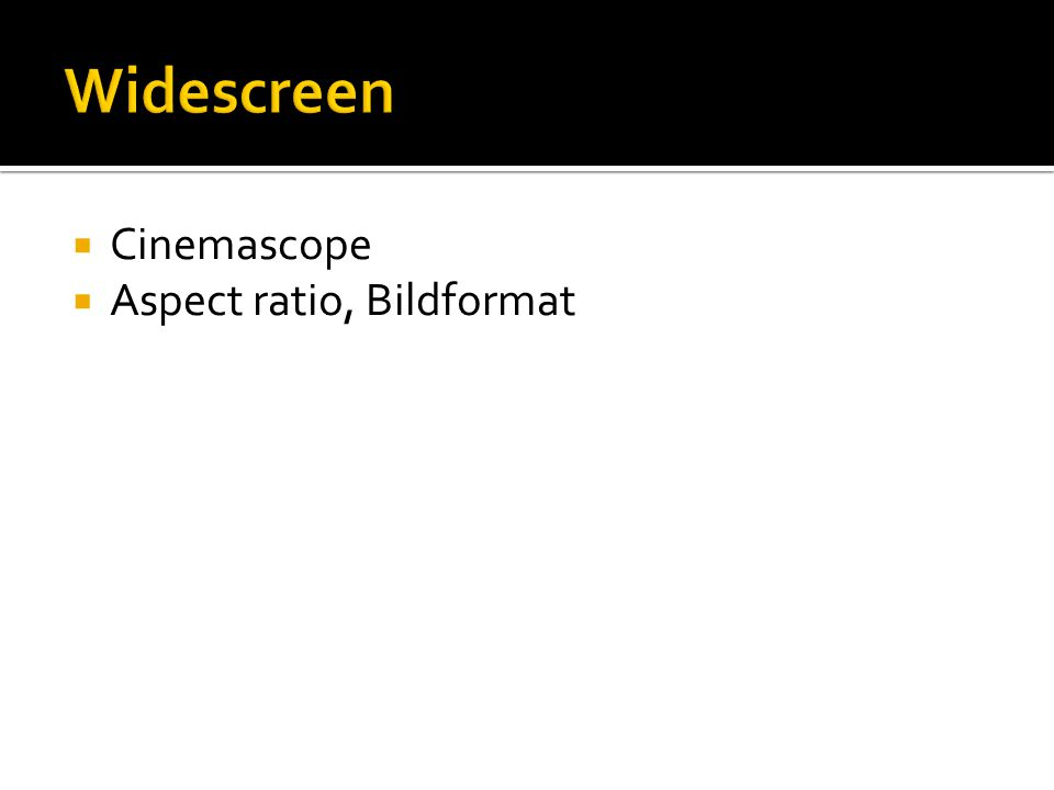  Cinemascope  Aspect ratio, Bildformat