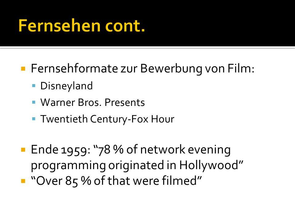  Fernsehformate zur Bewerbung von Film:  Disneyland  Warner Bros.
