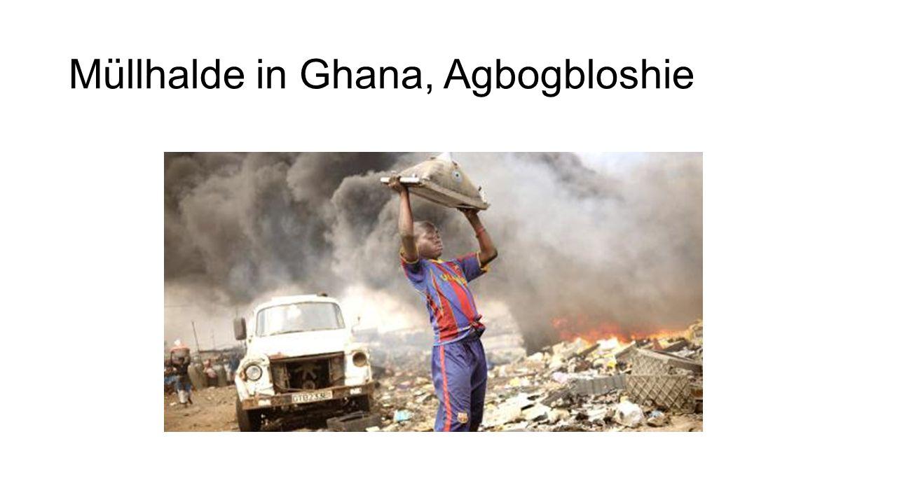 Müllhalde in Ghana, Agbogbloshie