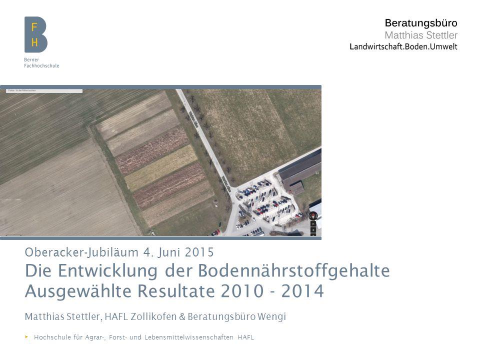 Berner Fachhochschule   Hochschule für Agrar-, Forst- und Lebensmittelwissenschaften HAFL Versuchsanlage Oberacker K G G K K = Kinsey G = GRUDAF