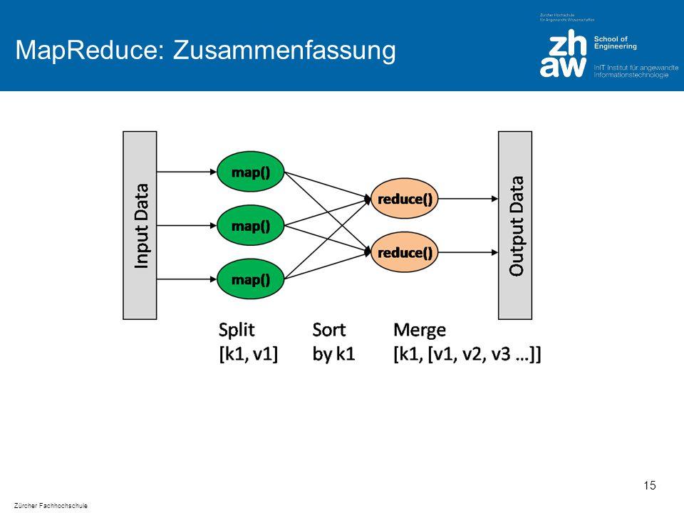 Zürcher Fachhochschule MapReduce: Zusammenfassung 15