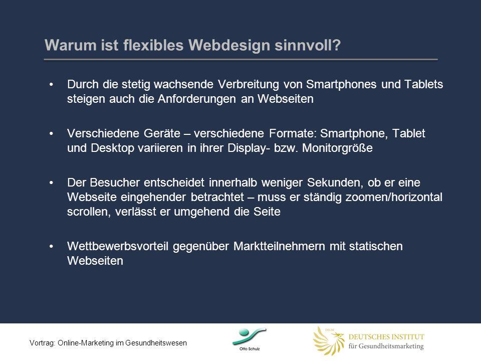 Warum ist flexibles Webdesign sinnvoll? Durch die stetig wachsende Verbreitung von Smartphones und Tablets steigen auch die Anforderungen an Webseiten
