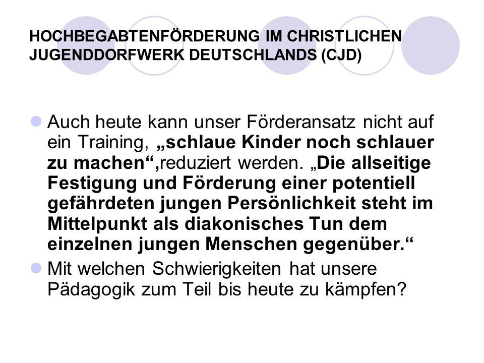 Der Beginn der schulischen Förderung allgemein hochbegabter SchülerInnen und Schüler in der Bundesrepublik Deutschland (1981) entsprang nicht dem Inno