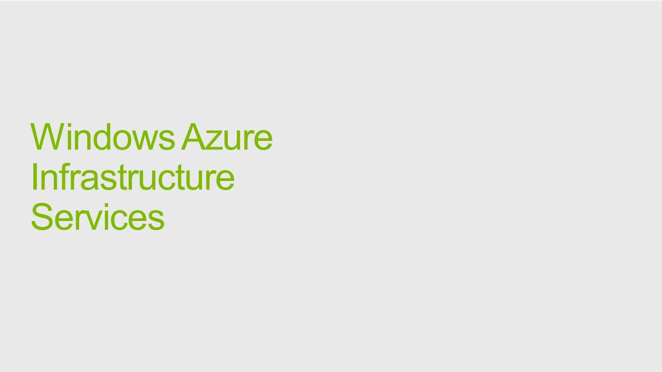 Windows Azure Infrastructure Services