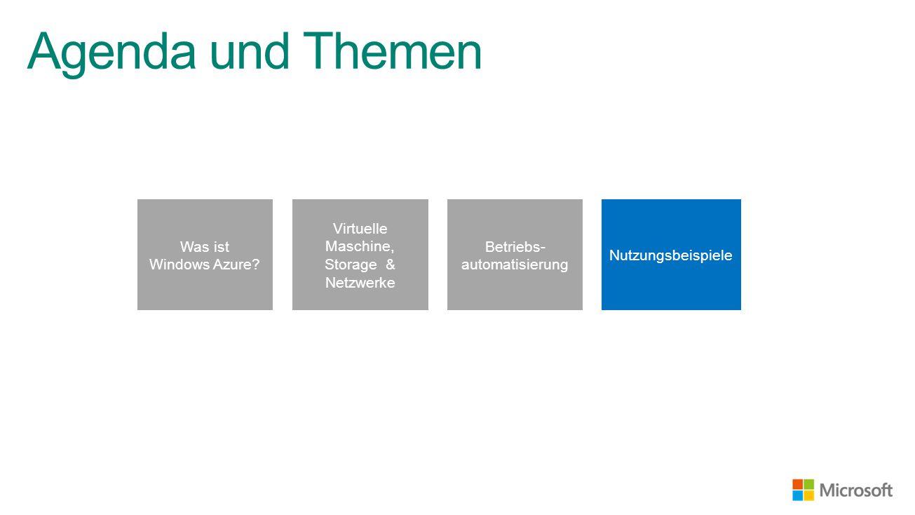 Agenda und Themen Was ist Windows Azure.