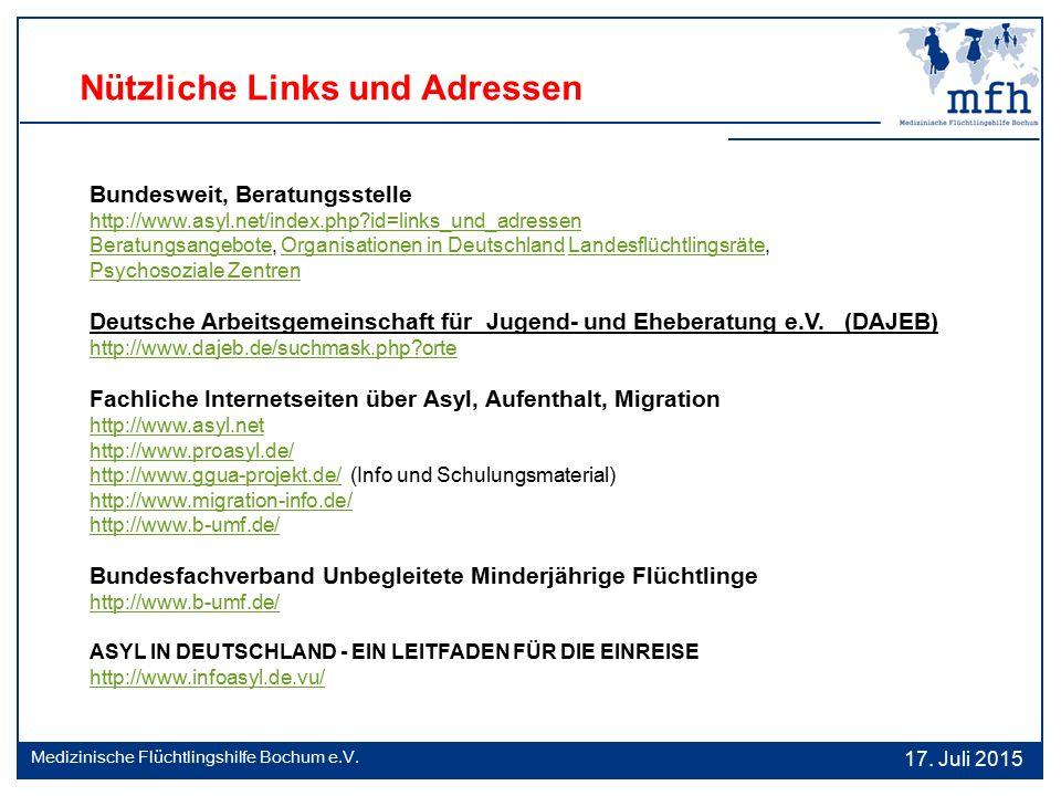 Nützliche Links und Adressen Bundesweit, Beratungsstelle http://www.asyl.net/index.php?id=links_und_adressen BeratungsangeboteBeratungsangebote, Organ
