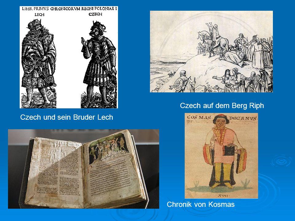Czech und sein Bruder Lech Czech auf dem Berg Riph Chronik von Kosmas
