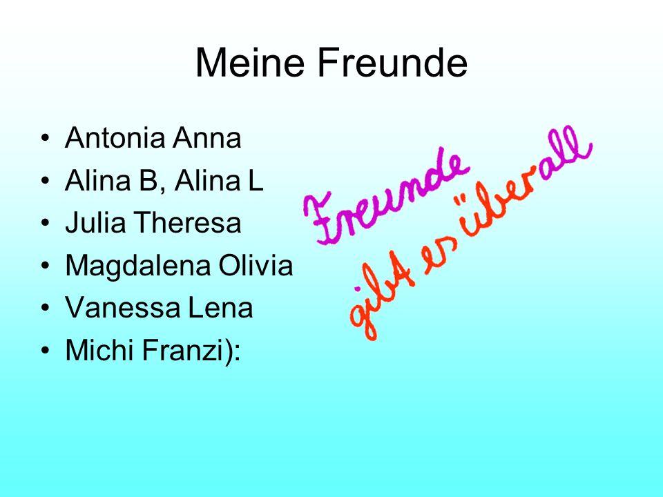 Meine Freunde Antonia Anna Alina B, Alina L Julia Theresa Magdalena Olivia Vanessa Lena Michi Franzi):