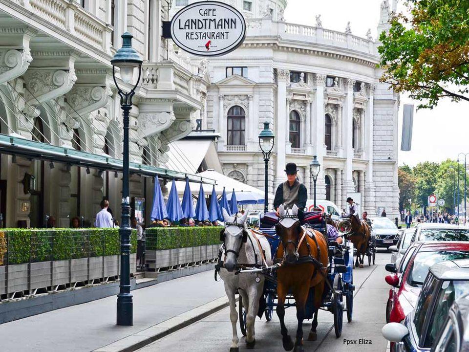 Die Stadt Wien hat eine nüchterne Architektur.